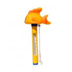 Plovoucí teploměr s provázkem - zlatá rybička