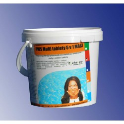 PWS Multi tablety do bazénu 5v1 MAXI 1kg sleva 25%